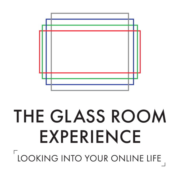 Logo and tagline of The Glass Room Exhbition